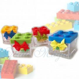 Bomboniere Compleanno Costruzioni Lego Portaconfetti Colorate Compleanno con Confetti per Bimbo Bimba