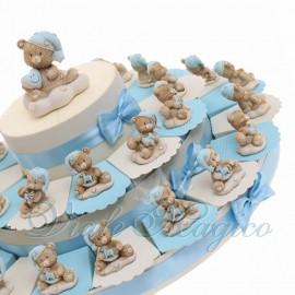 Torte Bomboniere con Statuina Orsettino NinnaNanna
