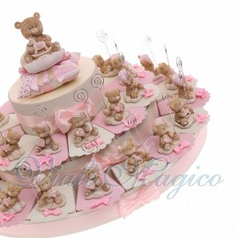 Torte Bomboniera con Memoclip Orsettina NinnaNanna Bimba