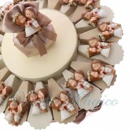 Torta Bomboniera Matrimonio Gay Donne Magnete Sposine Femmine in Offerte