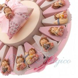 Bomboniere Nascita Primo Compleanno Alzatine con Magnete Bimba Giocherellona
