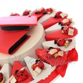 Torta Bomboniere Online Mix Coccinelle Laureande