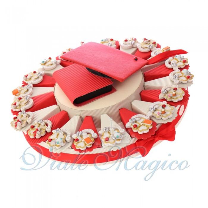 Torta Bomboniere Laurea Online Mix Quadrifoglio Laureato Confetti Inclusi