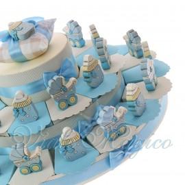 Torta BonBon Maxi con Carrozzina e Biberon Legno Bimbo