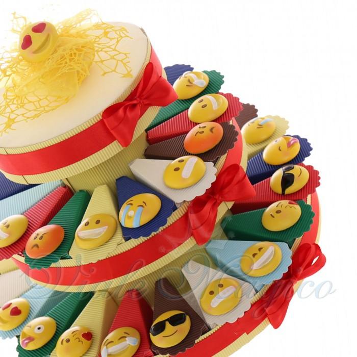 Torta Bomboniere Compleanno Confetti con Magnete Smile 10 Modelli