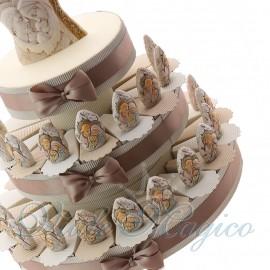 Torta Bomboniera Statuine Pietra Sacra Famiglia