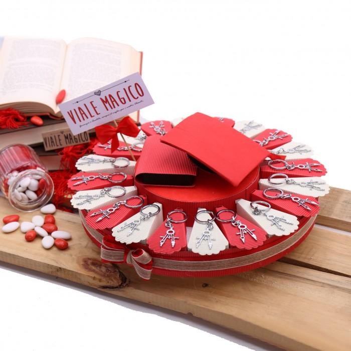 Torta Bomboniere Compasso per Laurea Architettura Confetti