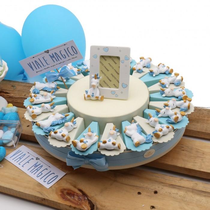 Bomboniere Unicorno 1° Compleanno Bimbo Alzatina Pensierini Confetti be0c0ec60e4d