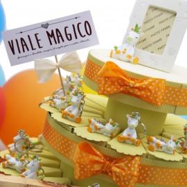 Bomboniere Torta Unicorno Dormiglione Color Portachiavi