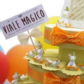 Bomboniere Torta Unicorno Dormiglione Color Statuine