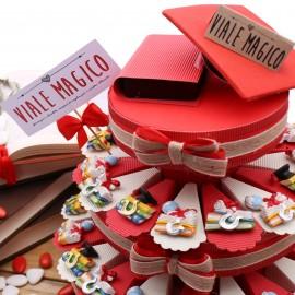 Torta Bomboniere Magnete Laurea Libroni Interessanti Mappamondo