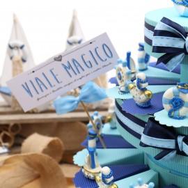 Torte Bomboniere Compleanno Portachiavi Tema Mare Gold Confetti