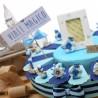 Torta Bomboniera Compleanno Statuine Tema Mare Gold