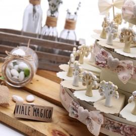 Torta Bomboniere Matrimonio con Albero della Vita Statuina Heart