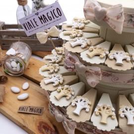 Torte Bomboniere Matrimonio con Albero della Vita Magnete Heart
