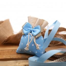Torte Sacchetti per Nascita a pois con Fiocco Bimbo Confettata