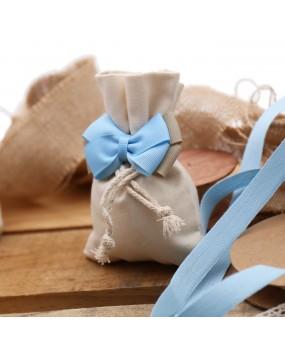 Bomboniere Nascita Torte con Sacchetti e Fiocco per Bimbo Basic
