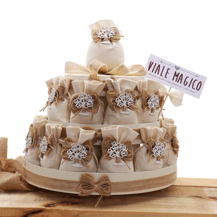 Torte Matrimonio Country Chic : Sacchetti juta con albero della vita per matrimonio country chic