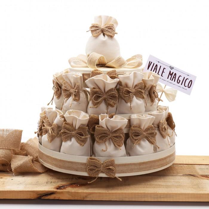 Torte Matrimonio Country Chic : Sacchetti juta per bomboniere matrimonio country chic con confetti