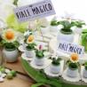 """Torte Bomboniere Matrimonio con Statuine Piantine """"SempreVerde"""""""