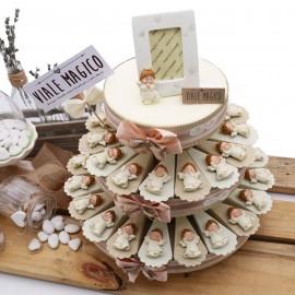 Torta Bomboniere Battesimo Calamite Simpatici Angioletti con Confetti