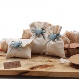 Sacchettini con Cuore Bimbo con Confetti Spago Romantic