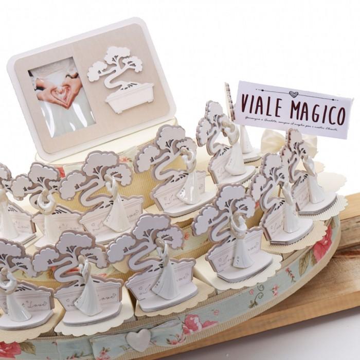 Bomboniere Matrimonio con Bonsai della Vita Sposi Maxi Torta