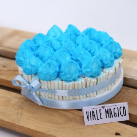 Torta Marshmallow Ciuffetto per Nascita Bimbo