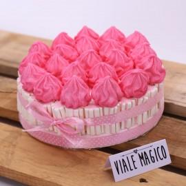 Torta Marshmallow Ciuffetto per Battesimo Bimba