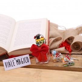 Bomboniere Laurea Portachiave Libroni Interessanti su Vasetto con Confetti