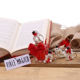 Bomboniere Laurea Portachiave Ferro di Cavallo Scaramantico su Vasetto con Confetti