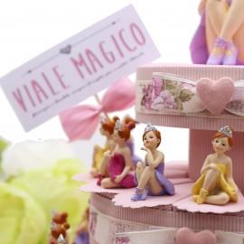 Ballerina Princess Statuine su Torta Bomboniere Bimba