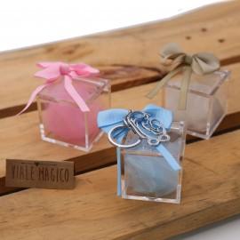 Amore Infinito Maternita Portachiave con Confetti e Plexiglass