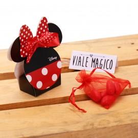Bomboniere Compleanno Minnie Orecchie Astuccio Classic rosso e nero con Confetti
