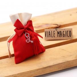 Stetoscopio Rosso mini con Nappina per Laurea Infermieristica Sacchetto