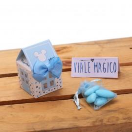 Bomboniere Nascita Disney Topolino Casetta Astuccio Star con Confetti