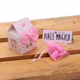 Bomboniere Nascita Minnie Casetta Astuccio Star con Confetti