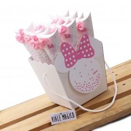 Bomboniere Nascita Disney Minnie Cono Astuccio Star con Confetti