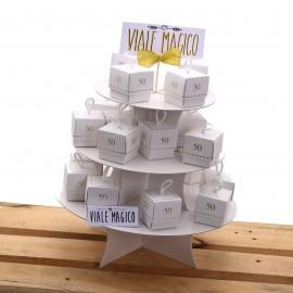 Scatolina con n°50 oro per Anniversario Matrimonio con Confetti