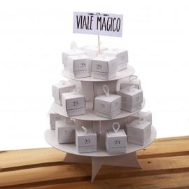 Scatolina con n°25 argento per Anniversario Matrimonio con Confetti