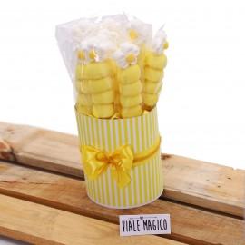 Box Marshmallow Flower con Caramelle Gialle