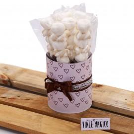 Box Marshmallow Heart con Caramelle Trecce e Cuori Tortora