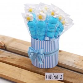 Box Marshmallow Flower con Caramelle Celeste