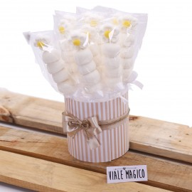 Box Marshmallow Flower con Caramelle Bianche