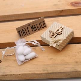 Bomboniere Scatoline Calice Comunione Spiga di Grano con Confetti