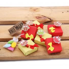 Scatoline con Mollettine Gufetti Colorati Compleanno con Confettata