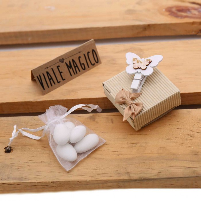 Bomboniere Matrimonio In Legno : Bomboniere low cost matrimonio scatoline farfalla economiche confetti