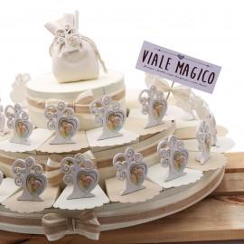 Torte Bomboniere Battesimo Statuina Cuore dell'Albero Sacra Famiglia