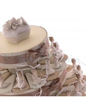 Torta con Appendino Ballerina in Porcellana