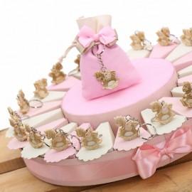 Torte Bomboniere Nascita con Portachiave Unicorno Peluche Bimba